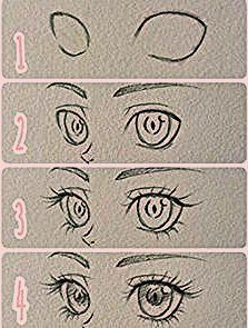 Drawing ideas step by step sketches anime eyes 31 Best ideas #drawing