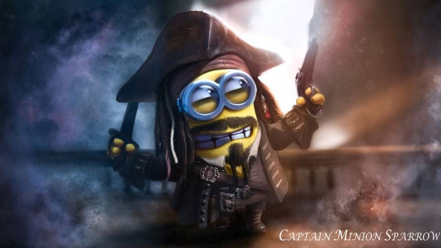Minion Captain Jack (With images) Minions wallpaper