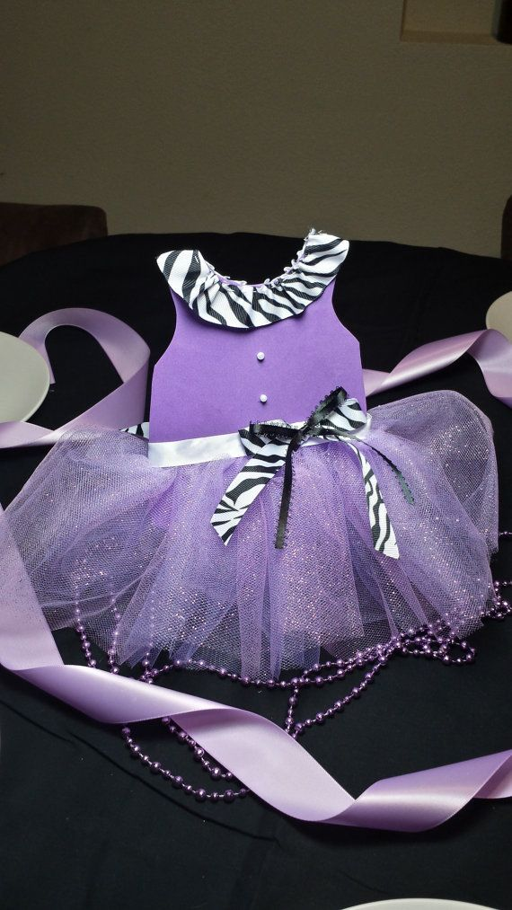 Items Similar To Zebra And Purple Tutu Centerpiece For Baby Shower Or Girls  Party On Etsy