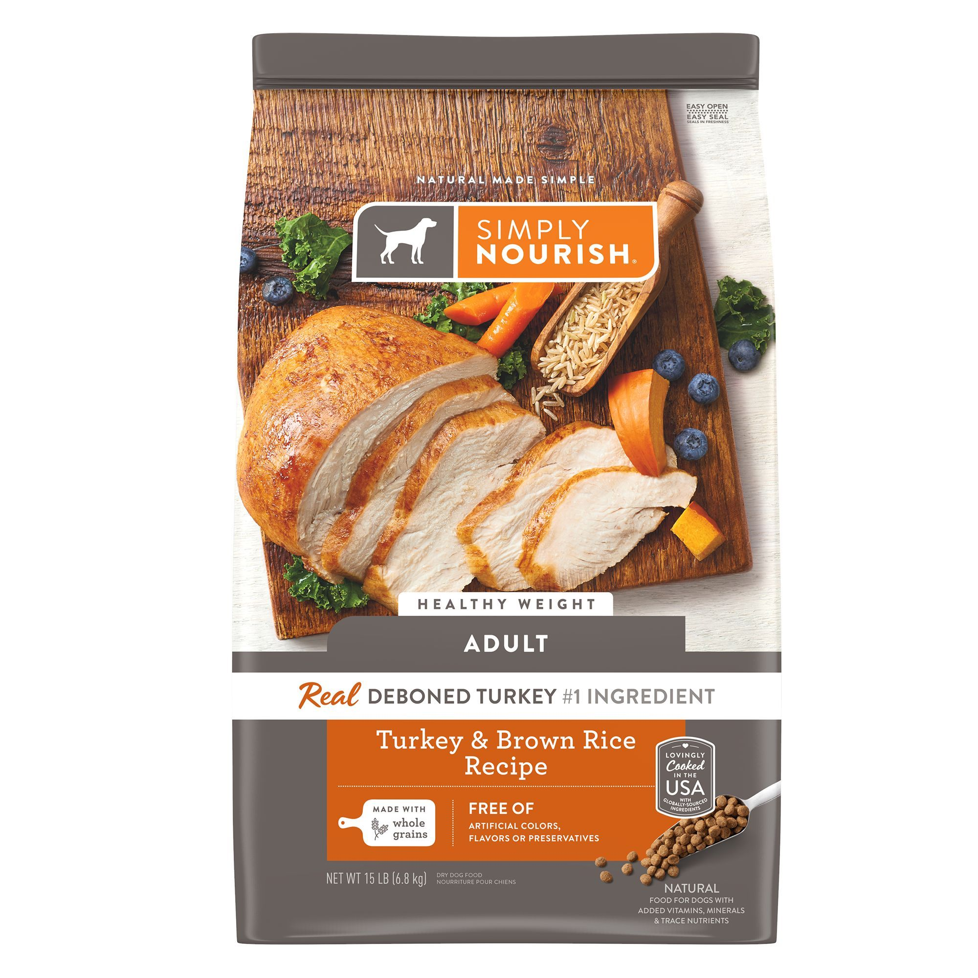 Simply Nourish® Healthy Weight Adult Dog Food - Turkey & Brown Rice