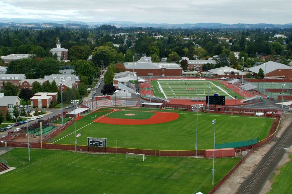 Campus Map Linfield College Campus Map College Baseball Baseball Field