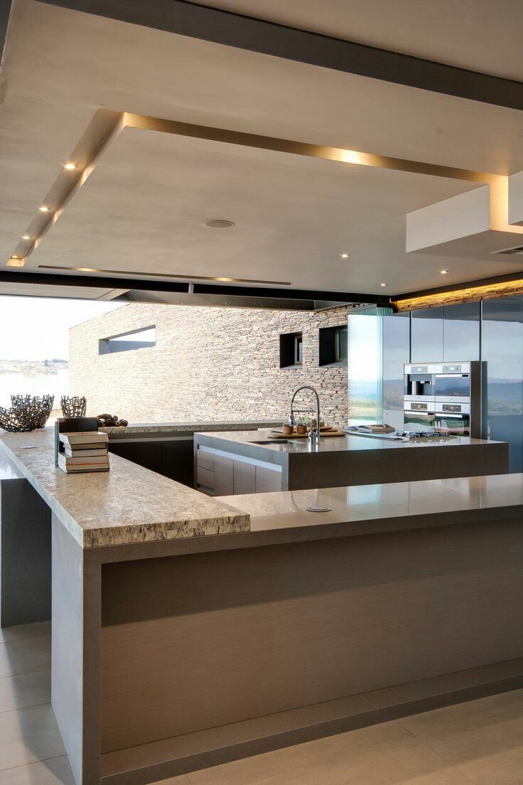 When building  beautiful kitchen the best option is to create that open concept  like roof with lights also panday group luxury interior design ideas rh pinterest