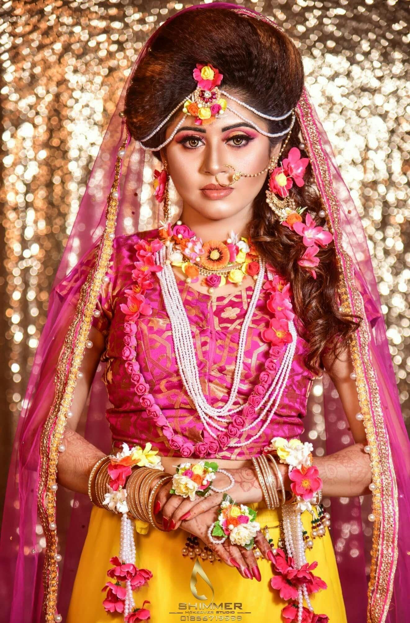 Pin by Dew Drop 🎀 on Bangladeshi BrideHaldiArtif (With