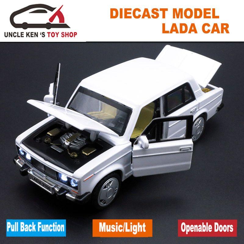 1:32 Ice Cream Truck Model Car Diecast Toy Vehicle Sound Light Pull Back Kids