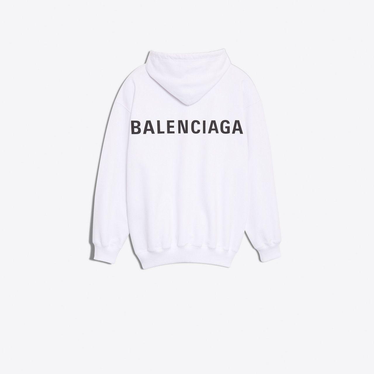Balenciaga Logo Hoodie Sweater Jersey Woman D Sweater Hoodie Black And White Hoodies Sweatshirts [ 1280 x 1280 Pixel ]