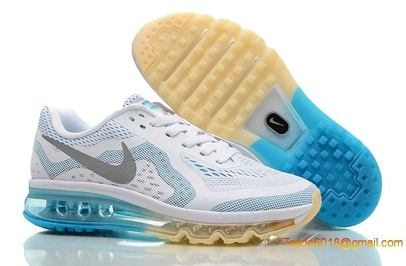 finest selection 207db 946f4 Nike AIR MAX 2014 Womens Running Shoes - white grey blue