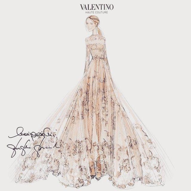 Que tal o vestido de noiva que Frida Giannini usou para se casar com Patrizio di Marco? A peça foi feita exclusivamente para ela pela @maisonvalentino e divulgada nas redes após a cerimônia. #ELLEmoda