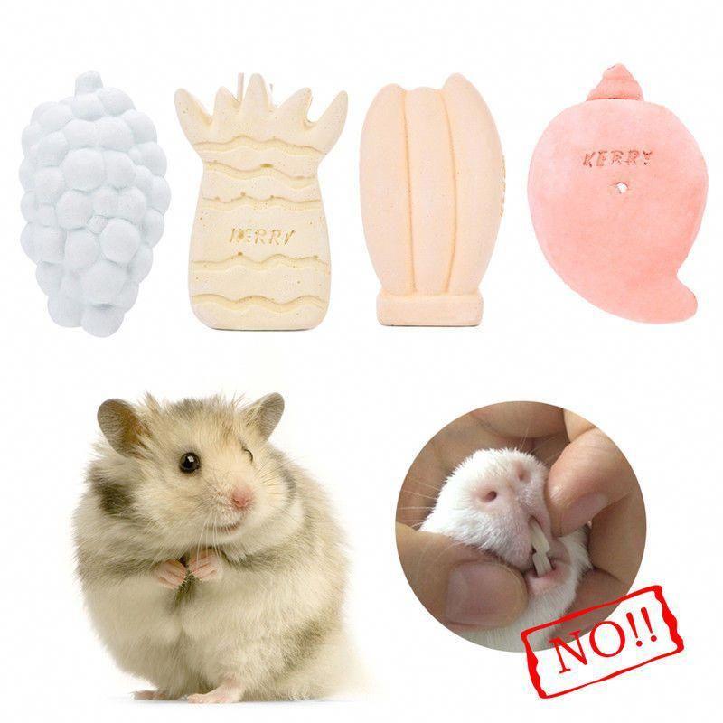 3 79 Hamster Teeth Mineral Grinding Stone Fruit Shaped Pet Rat