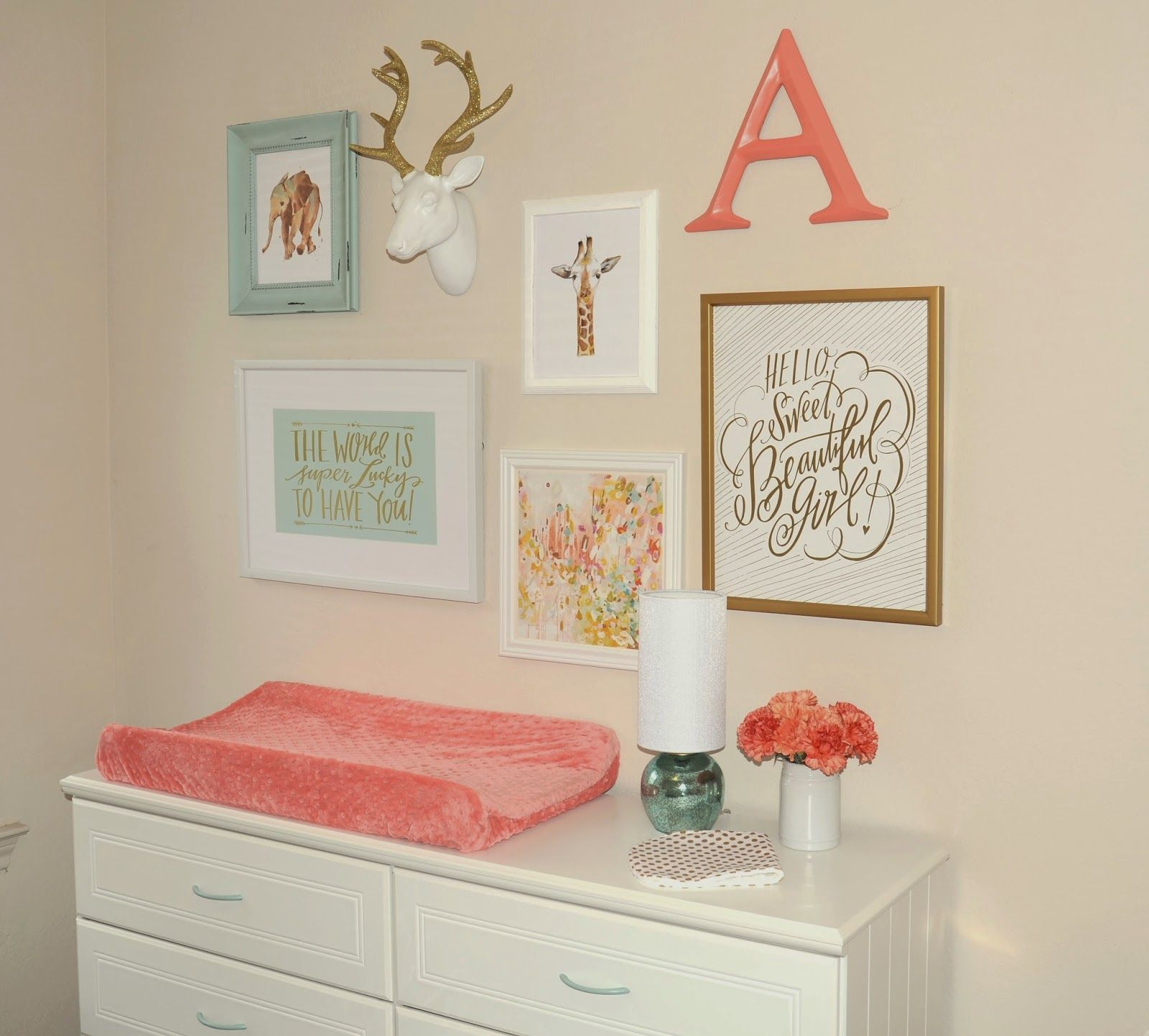 Pink Mint And Gold Nursery: Nursery Reveal: Annelise's Mint