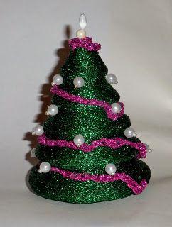 Pasmanteria Honorata Choinka Ze Styropianu Beaded Christmas Ornaments Christmas Ornaments Holiday Decor