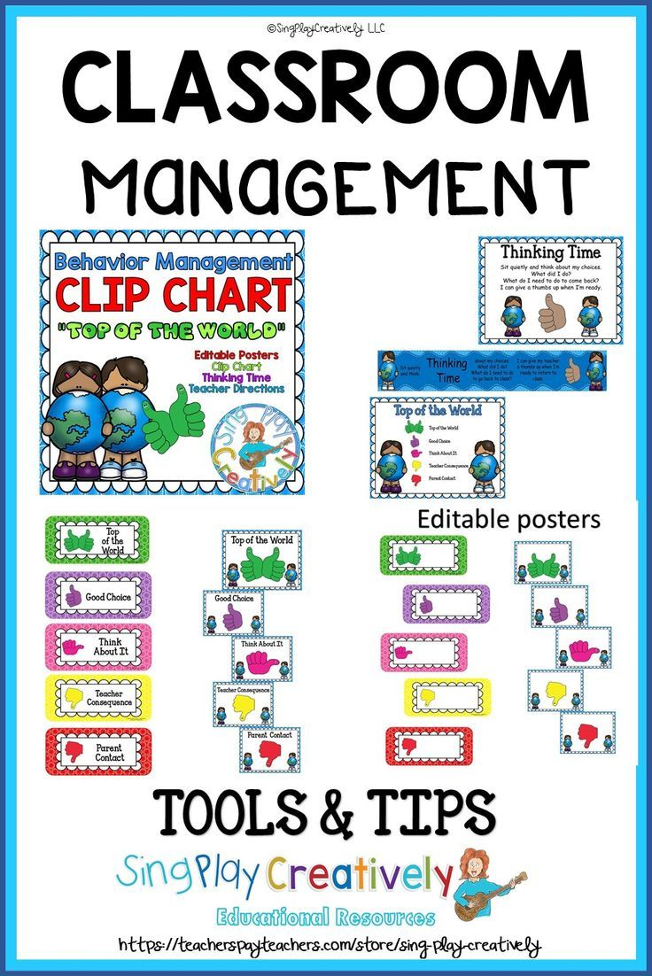 Elementary Behavior Chart And Classroom Management Plan And