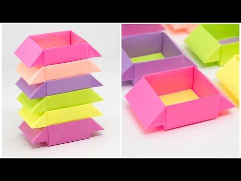 Origami GIFT BOX with Cover - Easy - YouTube | 360x480