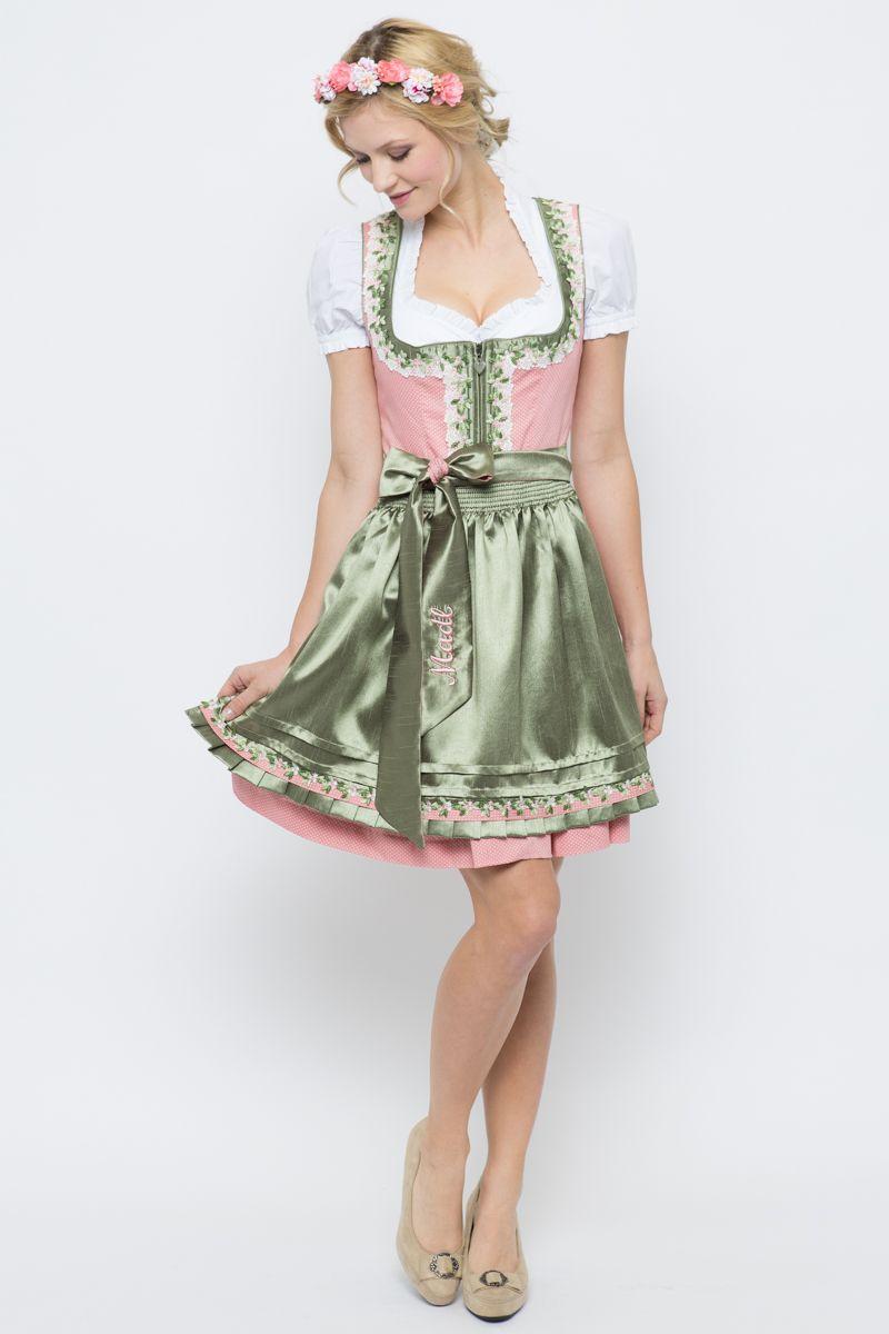 Mini Dirndl Alice, rosa/grün   Krüger   online bestellen   Ludwig & Therese