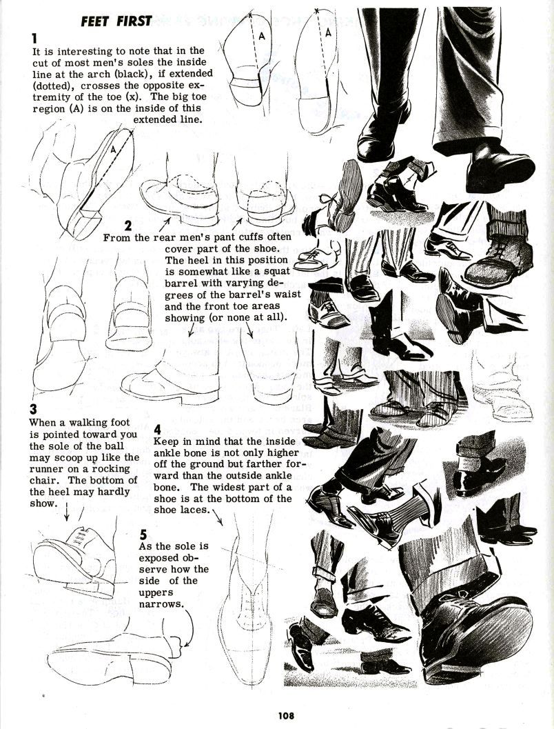 Feet Art Reference Art Tutorials Art Tutorial Art Tips Drawing Book Jack  Hamm Feet Refs Tutorial On How To Draw Men's Shoes