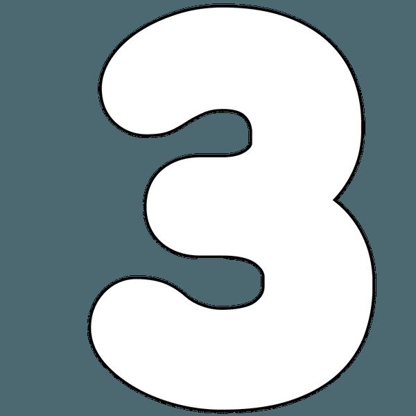 Einfache Zahlen Zum Ausdrucken Nur Kontur 7