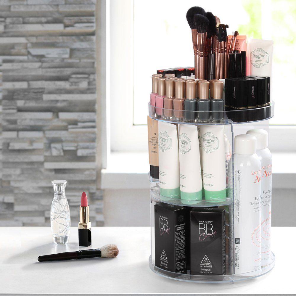 Acrylic Makeup Organizer 360 Degree Rotating Large