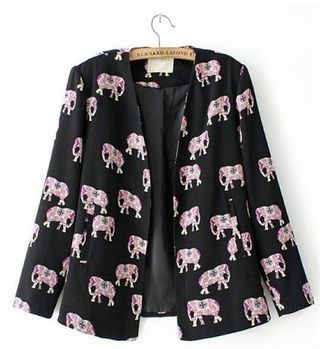 blazer estampa de elefantes