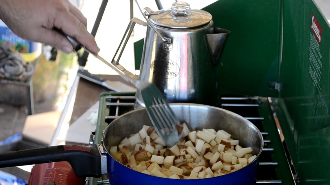How To Cook Pan Fried Potatoes, Using A Camp Stove