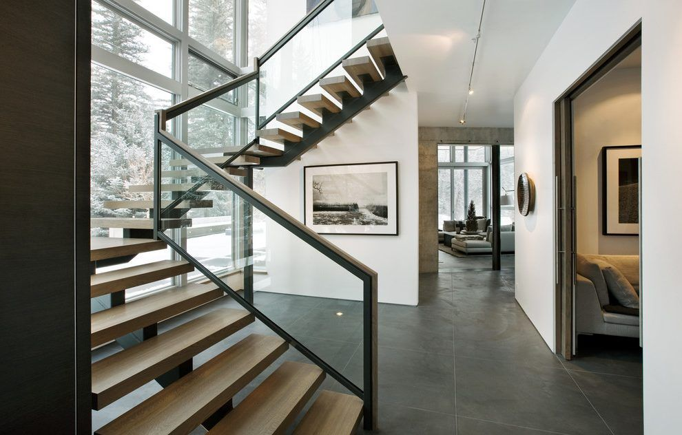 Best Image Result For Staircase W Glass Dark Wood Stain 400 x 300