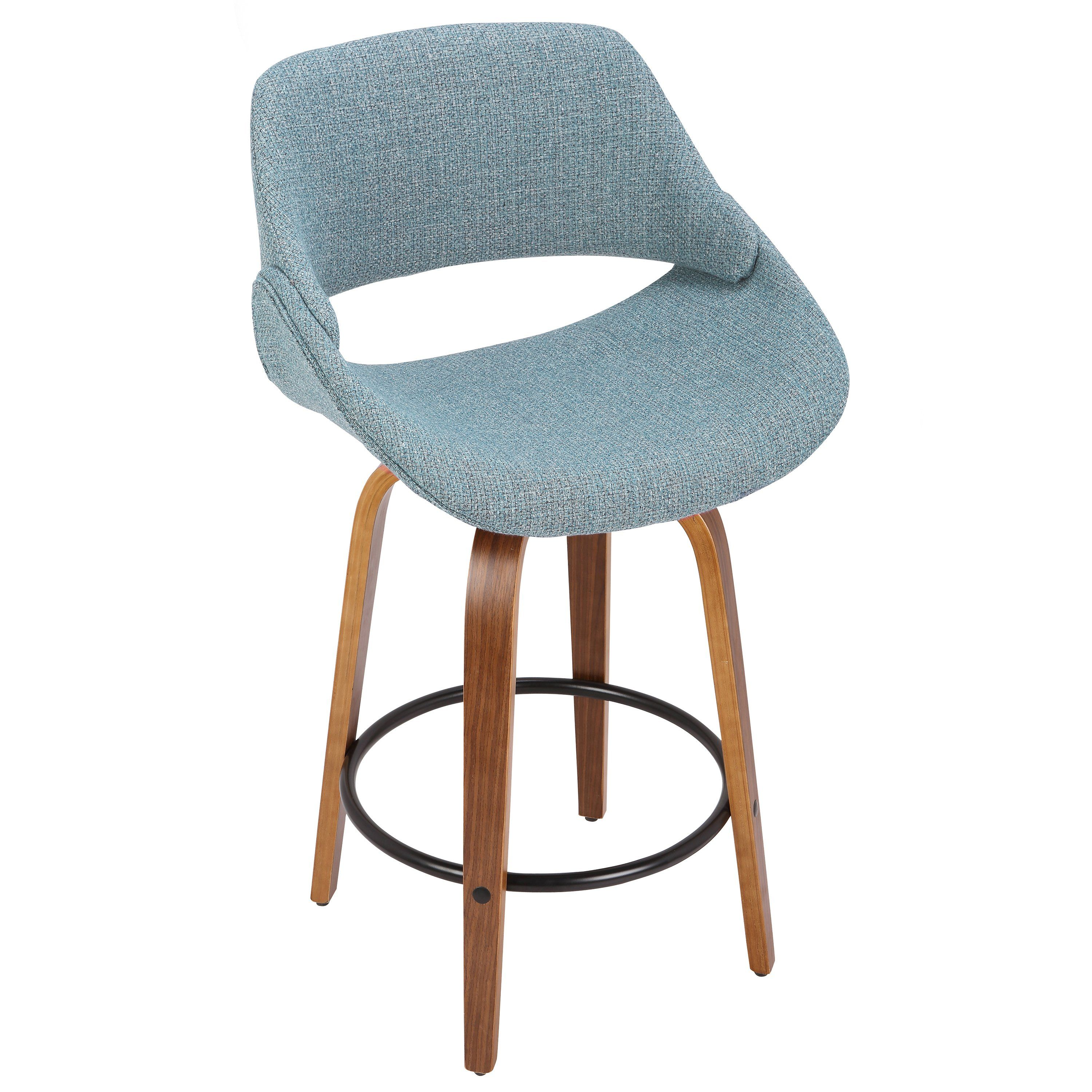 Excellent Blue And Brown 26 Inch Counter Height Stool Set Of 2 Fabrico Machost Co Dining Chair Design Ideas Machostcouk