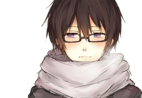 Anime Boy W Scarf Cute Anime Guys Anime Guys With Glasses