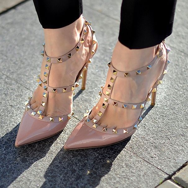 2017 SS VALENTINO rock studded pumps 65 mm Clearance Name Brand - FLGZ5O