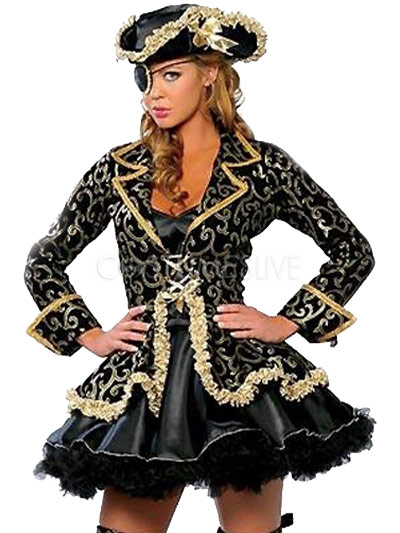 Gorgeous Negro personajes de dibujos animados Jacquard adultos traje de  pirata para la mujer - Costumeslive.com por Milanoo 50556ecfde449