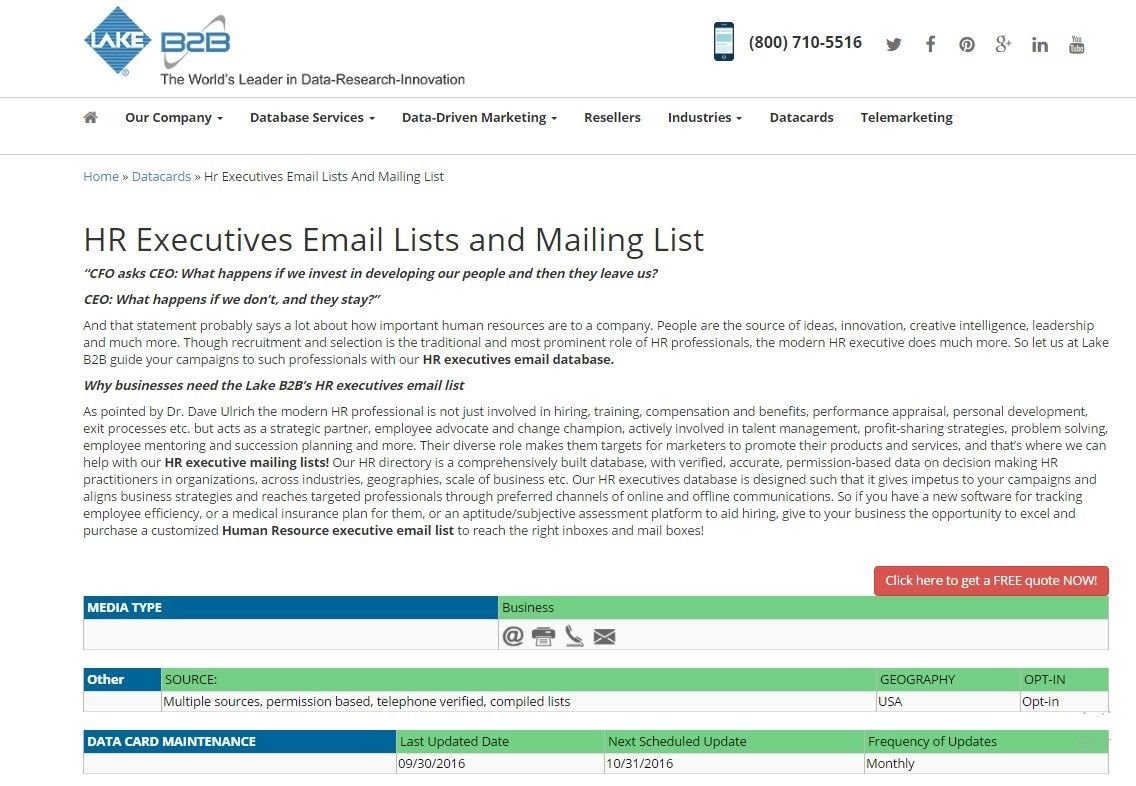 HR Email List | HR Executive email addresses | Email