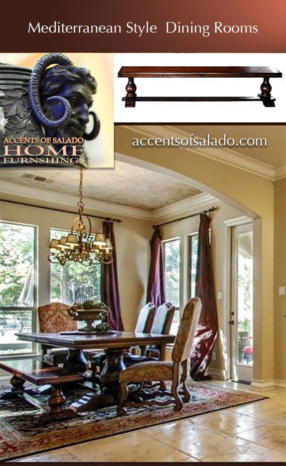 Tuscan Style Dining Room Furniture ~ at Accents of Salado Furniture