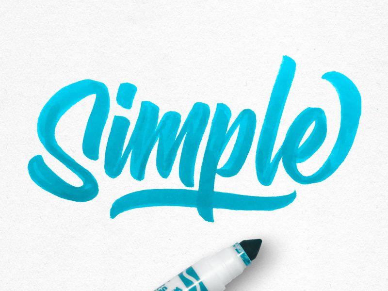 Simple sketch design typography inspiration illustration