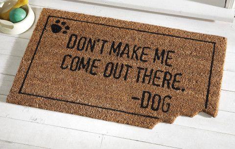 Passive Aggressive Doormats Dog Door Mat Dog Door Door Mat
