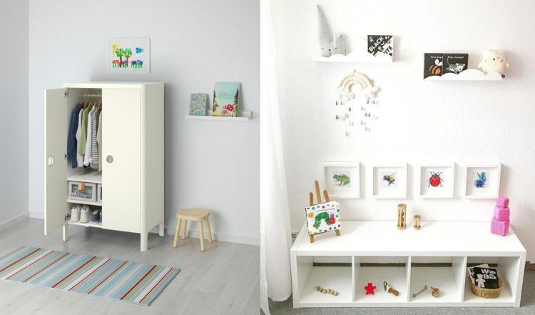 Kindermöbel für Montessori verwenden offenes Regal in Weiß ...