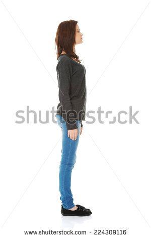 woman standing profile - Cerca con Google