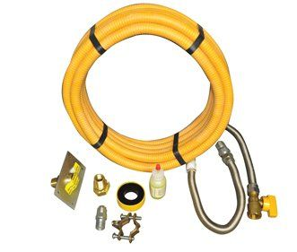 HPC Pro-Flex Gas Appliance Installation Kit u003e Gas appliance installation kit for most installations Gas line is 304 stainless steel with polyethylene ...  sc 1 st  Pinterest & HPC Pro-Flex Gas Appliance Installation Kit