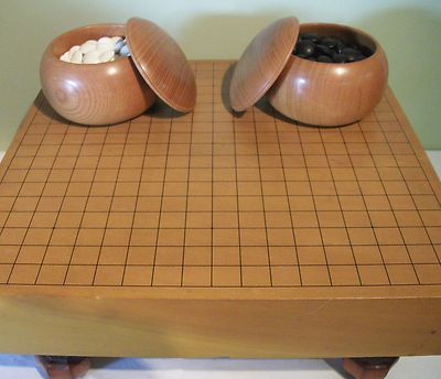 japanese Goban go game board and stones