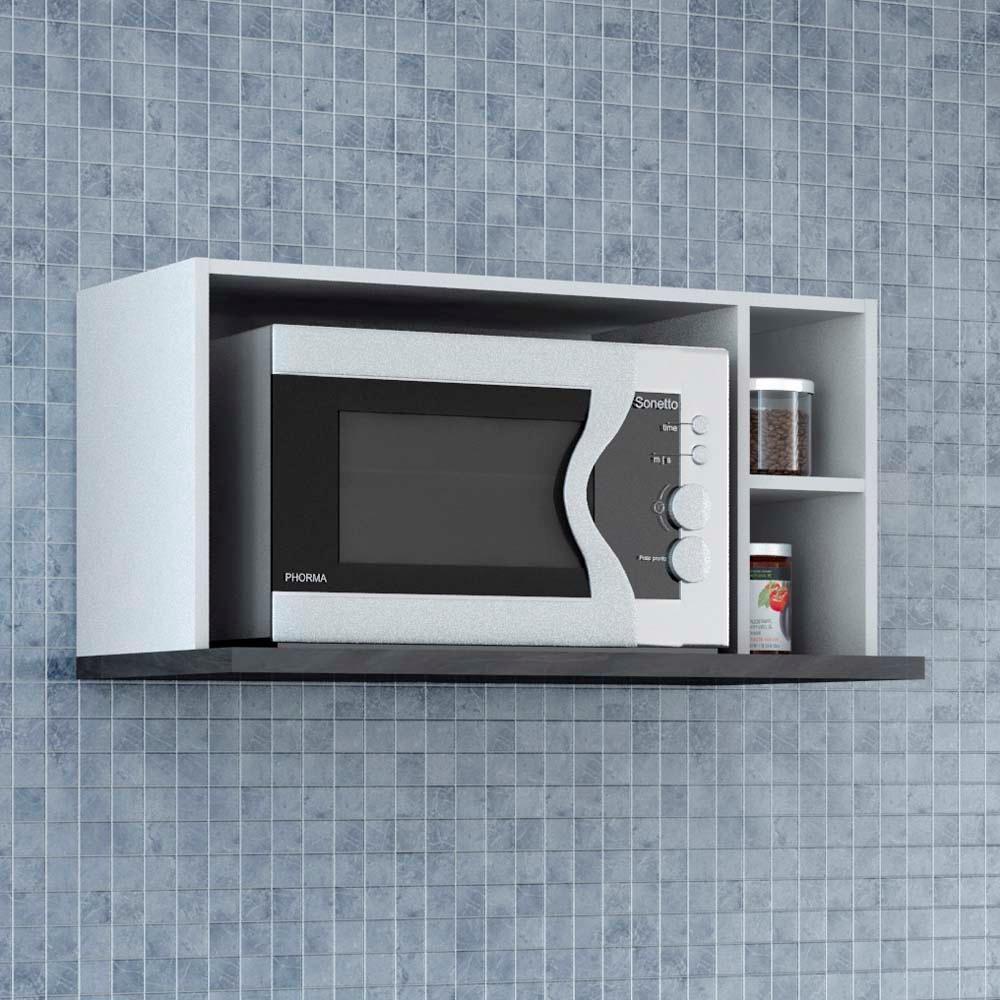 Armário para Micro ondas Bartira Chef com 2 Nichos Laterais Cozinha Modulada no CasasBahia com