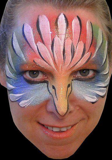 Blue Parrot Face Paint