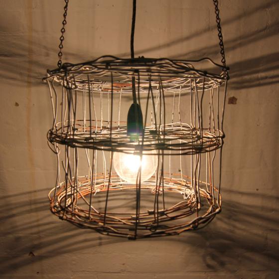 rusty wire lamp shade | Scrap metal / wood re-makes | Pinterest ...