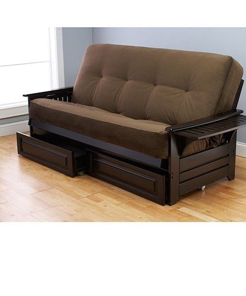 Queen Size Futon With Storage Spare Bedroom Futon Sofa Bed