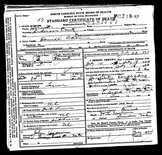 ICD Codes on Death Certificates Can Tell You How Your Ancestors - free medical certificate