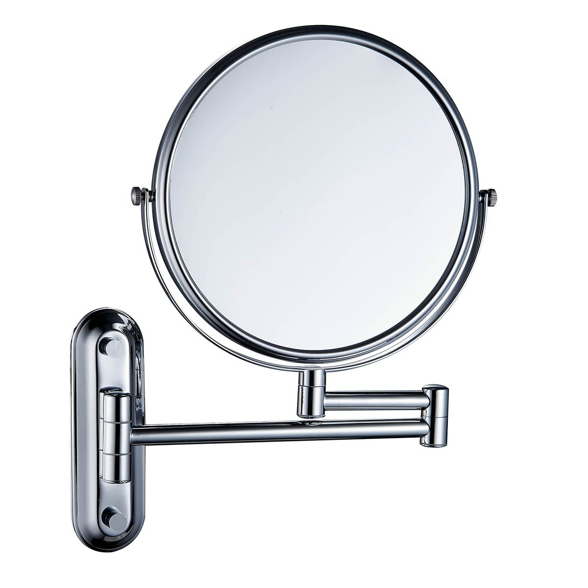 8 Inch Double Sided Swivel 12 Inch Extension Wall Mount Makeup Mirror 3016 Teverer Wall Mounted Makeup Mirror Mirror Wall Mount