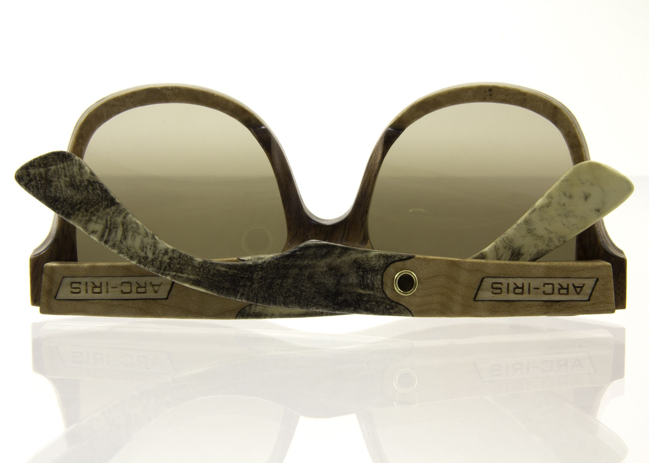 Sunglasses by Arc-Iris made from some of our buckeye burl.