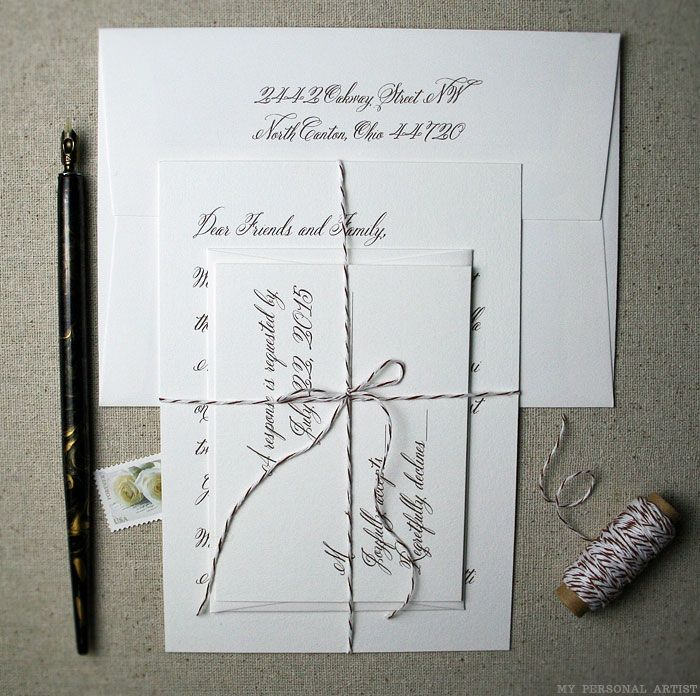 Love Letter Invitation Designed By Michelle Mospens From Mospens
