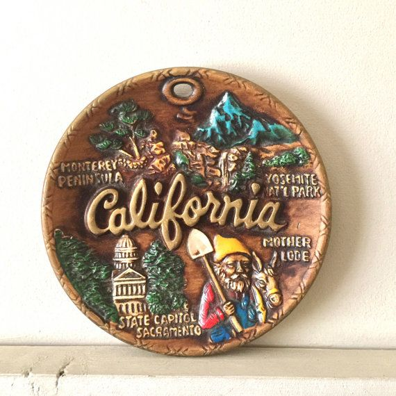 California Souvenir Ceramic Plate Made In Japan With Images