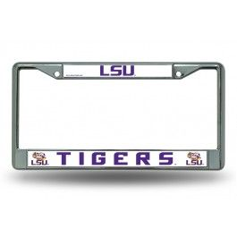 Louisiana State LSU Tigers Chrome License Plate Frame