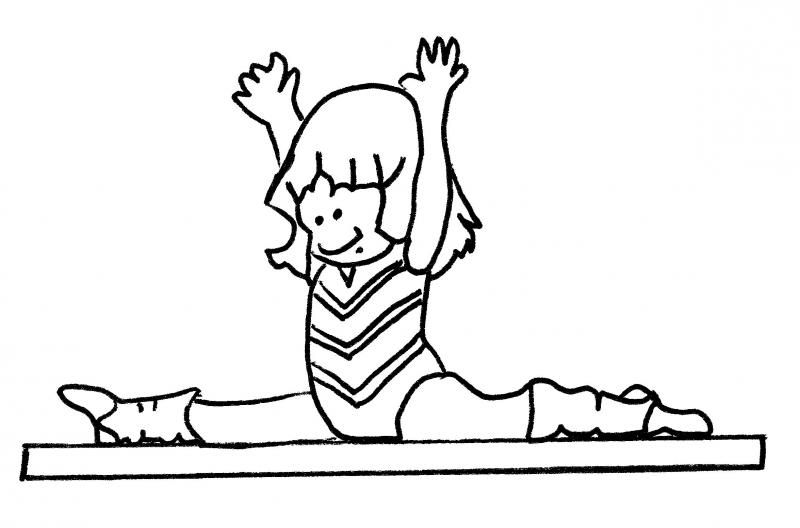 Gymnastics Balance Beam Scale Clipart