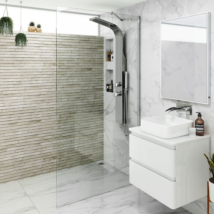 700mm  8mm  Premium EasyClean Wetroom Panel  2019  If youre looking for small shower enclosures (700mm) have you considered a modern wetroom panel? Beautiful & frameless add style & luxury to your shower room. Soak  The post 700mm  8mm  Premium EasyClean Wetroom Panel  2019 appeared first on Shower Diy. #wetrooms