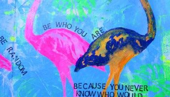 Be Weird Be Random - An Art Journal Page with Karenliz