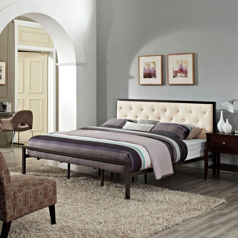 Modway Mia Upholstered Platform Bed | Products | Pinterest ...
