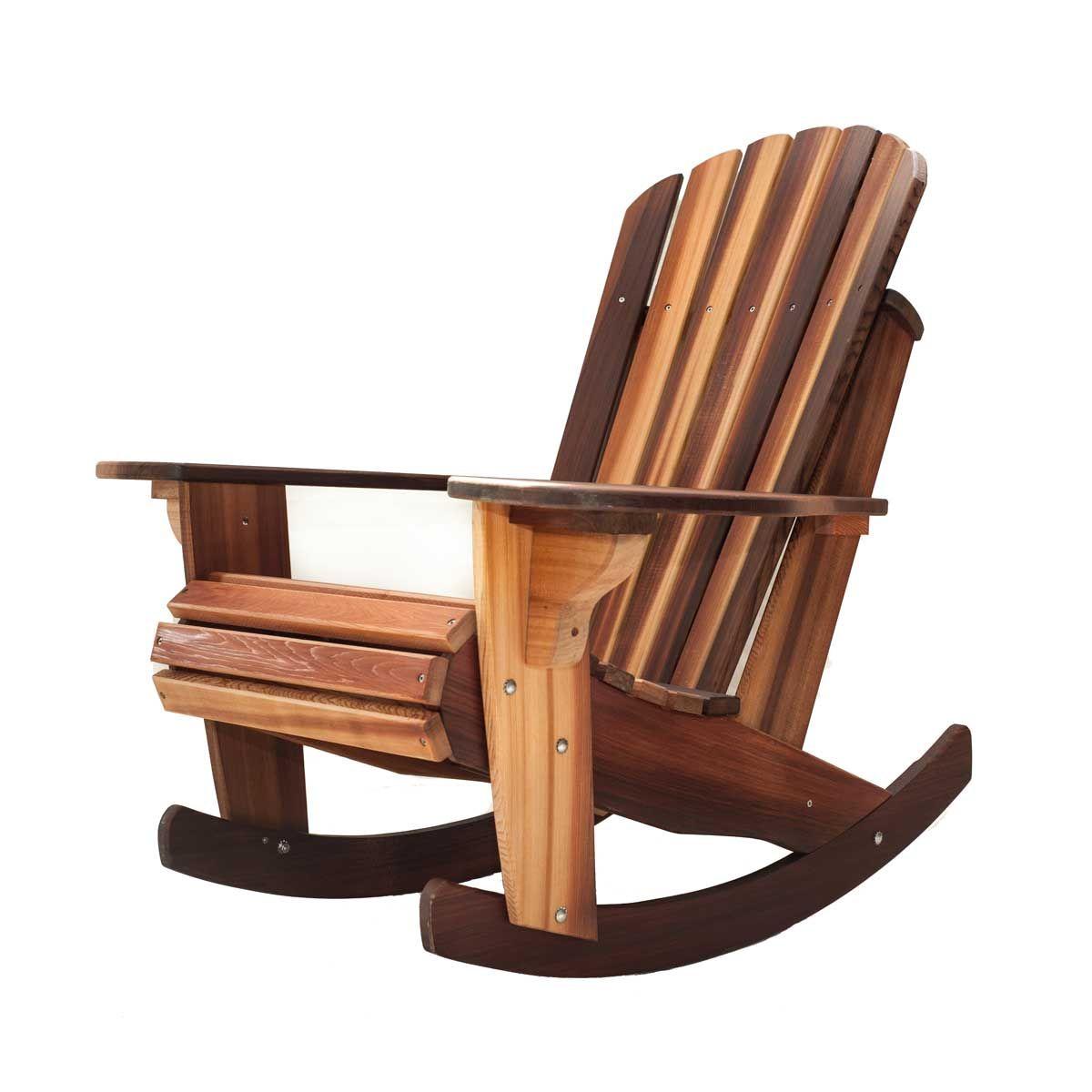 Adirondack Cedar Rocking Chair | Adirondack Chairs | Pinterest ...